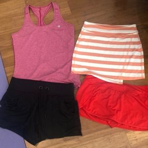 Athleta items worn once on vacation - sm and Xs